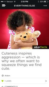 UberFacts Screenshot Cuteness Inspires Aggression