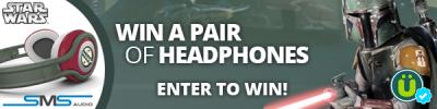 Win FREE Boba Fett Star Wars Headphones